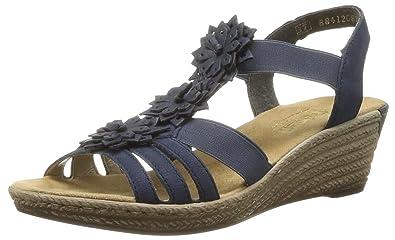 Rieker 62461 14, Damen Sandalen, Blau Blau Größe: 42 EU