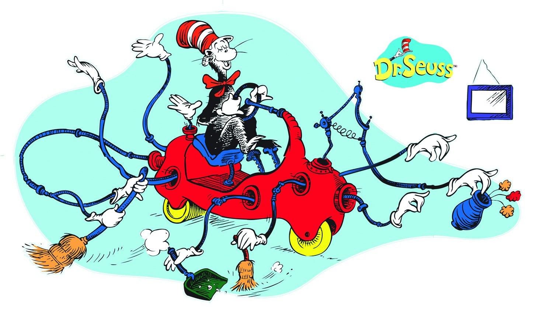 Amazon.com: Eureka Dr. Seuss Giant Cat in Car Bulletin Board Sets ...