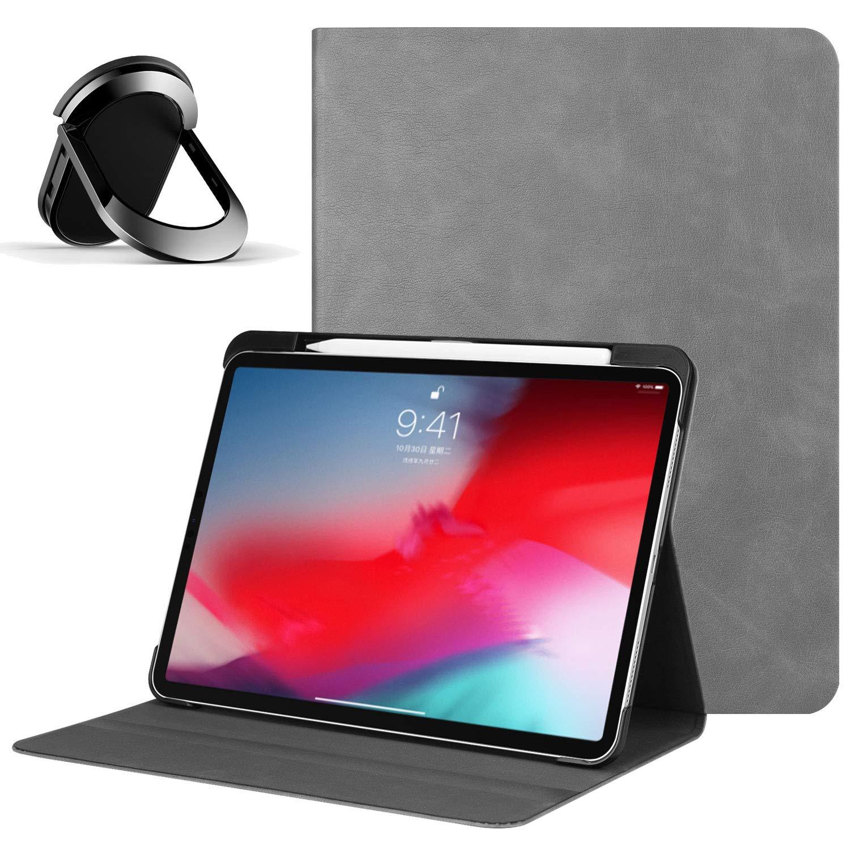 新品同様 iPad Pro 11ケース B07NM8LQM3 2018年 ペンシルホルダー付き iPad レザーフォリオカバー [Apple Pencilペアと充電サポート] バンドル 自動スリープ/ウェイク機能付き iPad Pro 11インチ バンドル 強力な磁気リングホルダー B07NM8LQM3, QATARI -カタリ-:061383a9 --- senas.4x4.lt