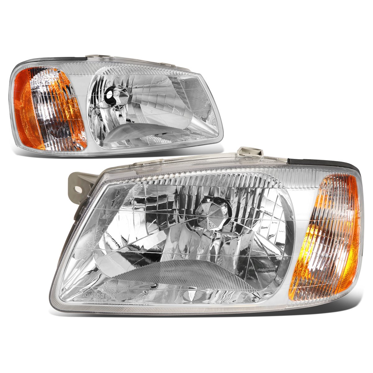 DNA Motoring HL-OH-049-CH-AM Headlight Driver /& Passenger Side