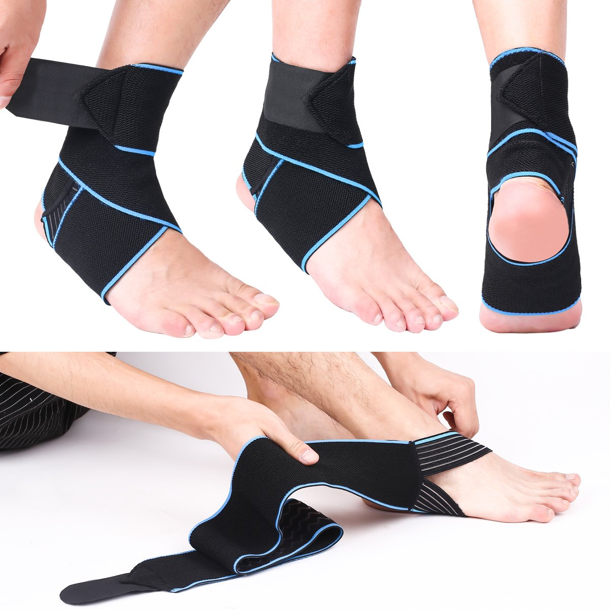 a797c374cc Giwil Ankle Support, Adjustable Ankle Brace Breathable Nylon Material Super  Elastic and Comfortable One Size Fits all, Perfect for Sports, Protects  Against ...