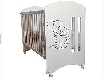 Cuna para bebé, modelo Oso Dormilón Mundi Bebé + Colchón Viscoelástica + Protector de colchón impermeable: Amazon.es: Bebé