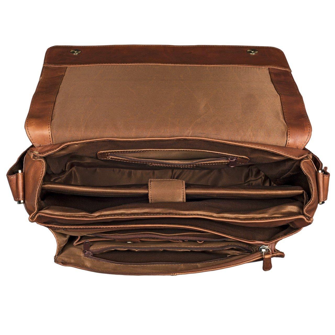 STILORD  Lonzo  Vintage Sac d épaule Hommes Femmes PC Portable 15.6 pouces  Sacoche bafc06b8f1a7