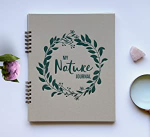 "Nature Journal Spiral Bound Sketch Book, 120 Blank Pages 9.25"" x 7.5"", Sketch Pad For Drawing, Science Activity Nature Studies, Nature Journaling Supplies, Sketch Pad Journal Notebook Blank Pages (SA)"