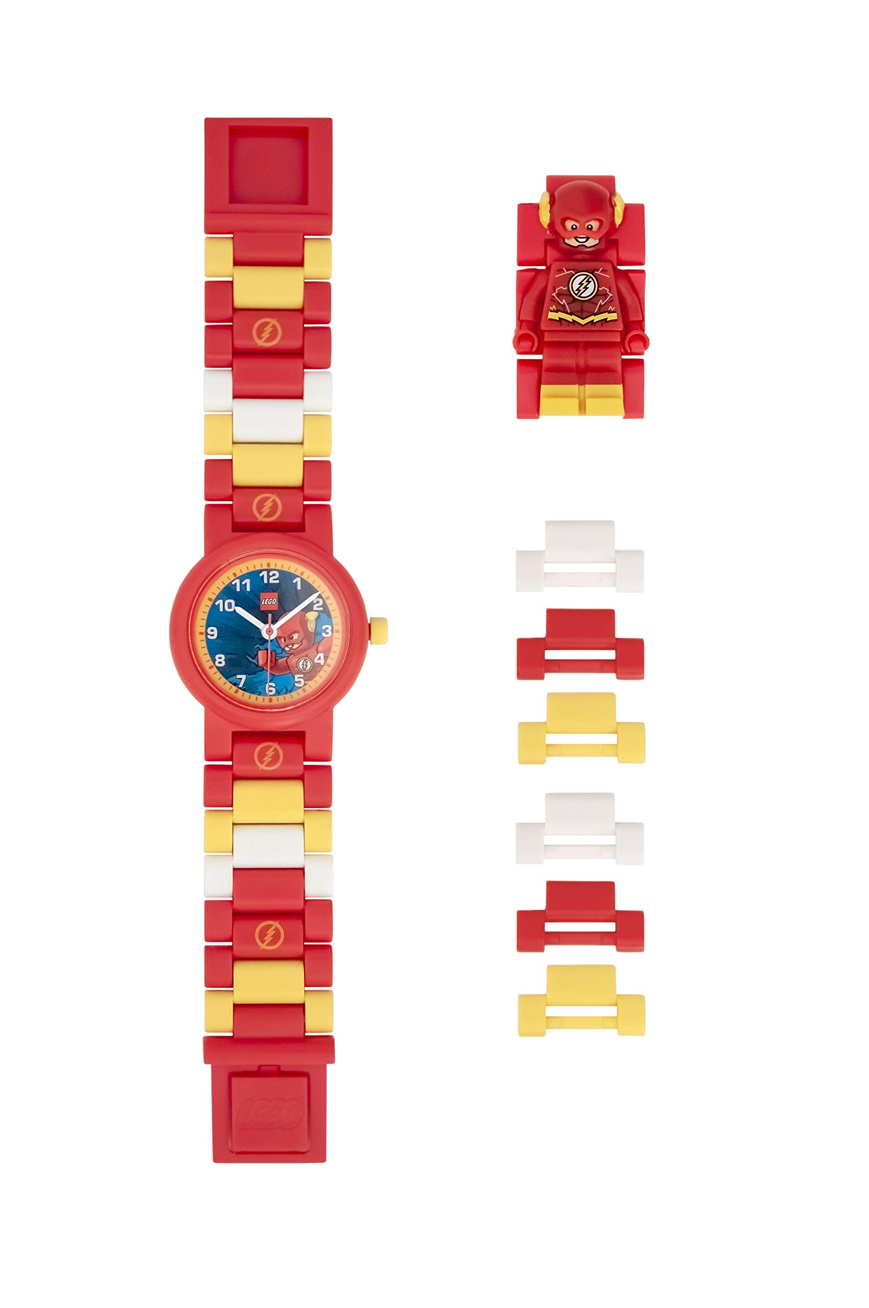 ClicTime Boys' LEGO The Flash Analog Quartz Watch with Plastic Strap, Red, 20 (Model: 8021582) by ClicTime