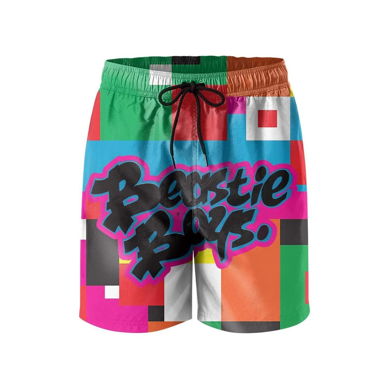 Mens Beach Shorts Design Music Swimsuit Trunks Jogging Vacation Beachwear