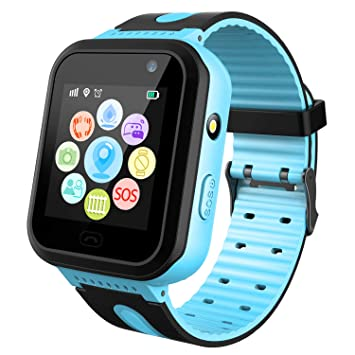 Reloj Inteligente para niños Rastreador de GPS a Prueba de Agua - Reloj Infantil Reloj Digital Reloj Despertador SOS Cámara Reloj con Linterna ...
