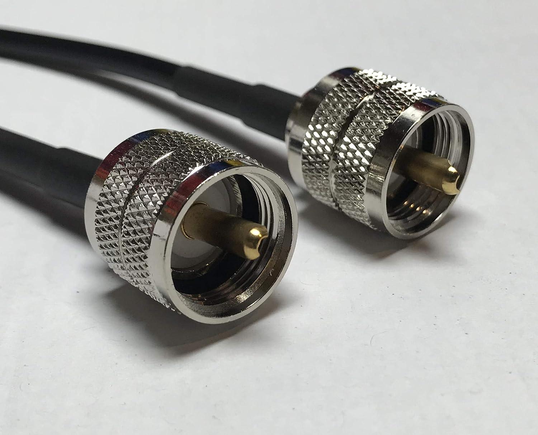 Amazon.com: UHF (Pl259) macho a UHF macho RG58 cable coaxial ...