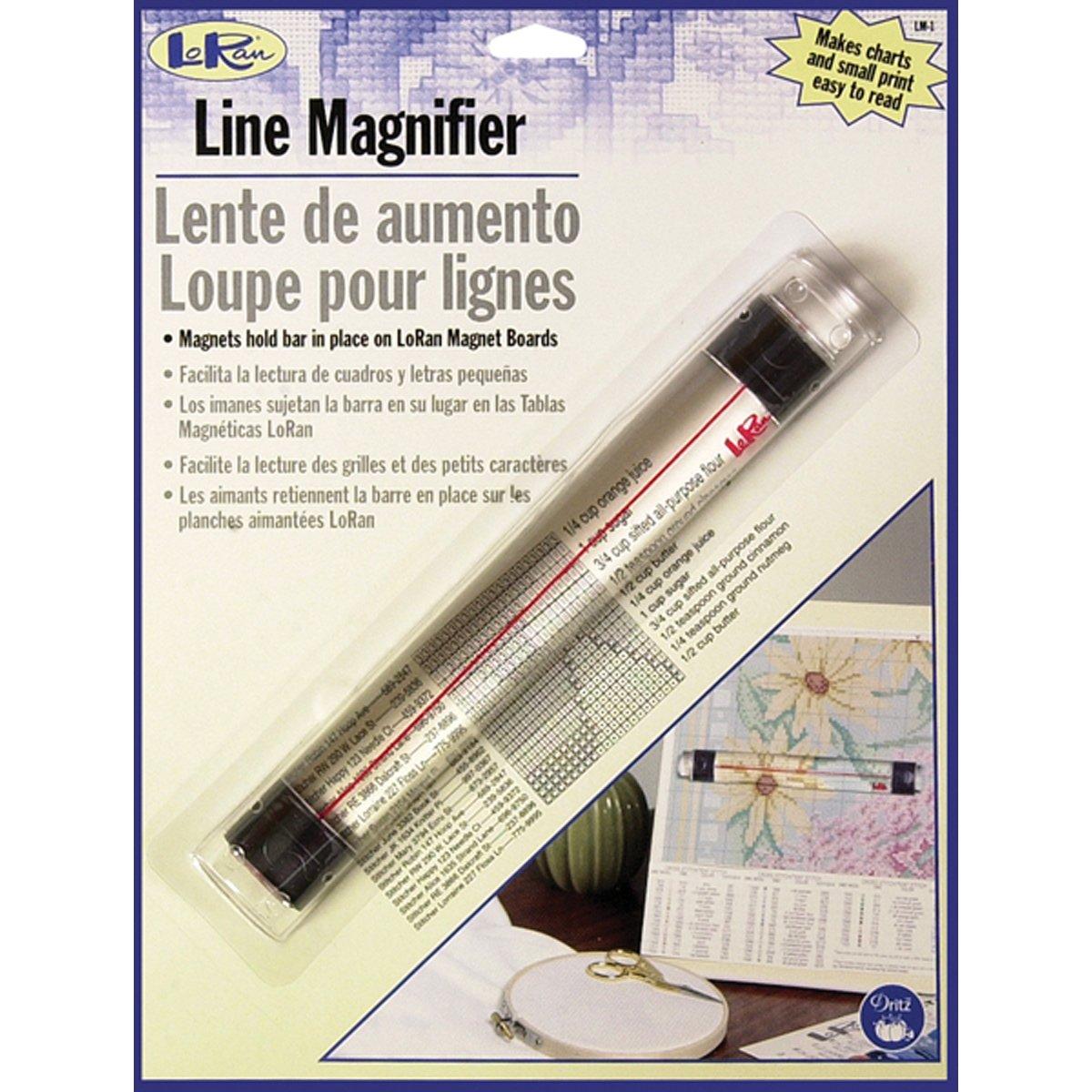 Dritz LoRan Magnetic Line Magnifier .875-Inchx6.5-Inch LM-1