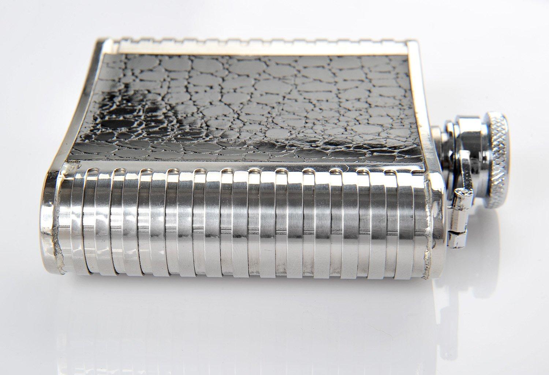 150 ml 1846 DE tappo a vite Monumentum Fiaschetta di acciaio inossidabile Black-Silver 5 oz. di colore nero-argenteo