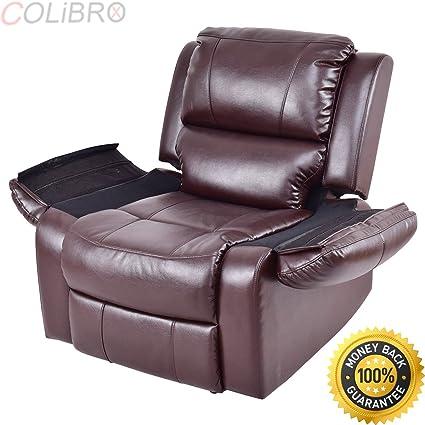 Amazon.com: COLIBROX--Manual Recliner Sofa Lounge Chair PU Leather ...