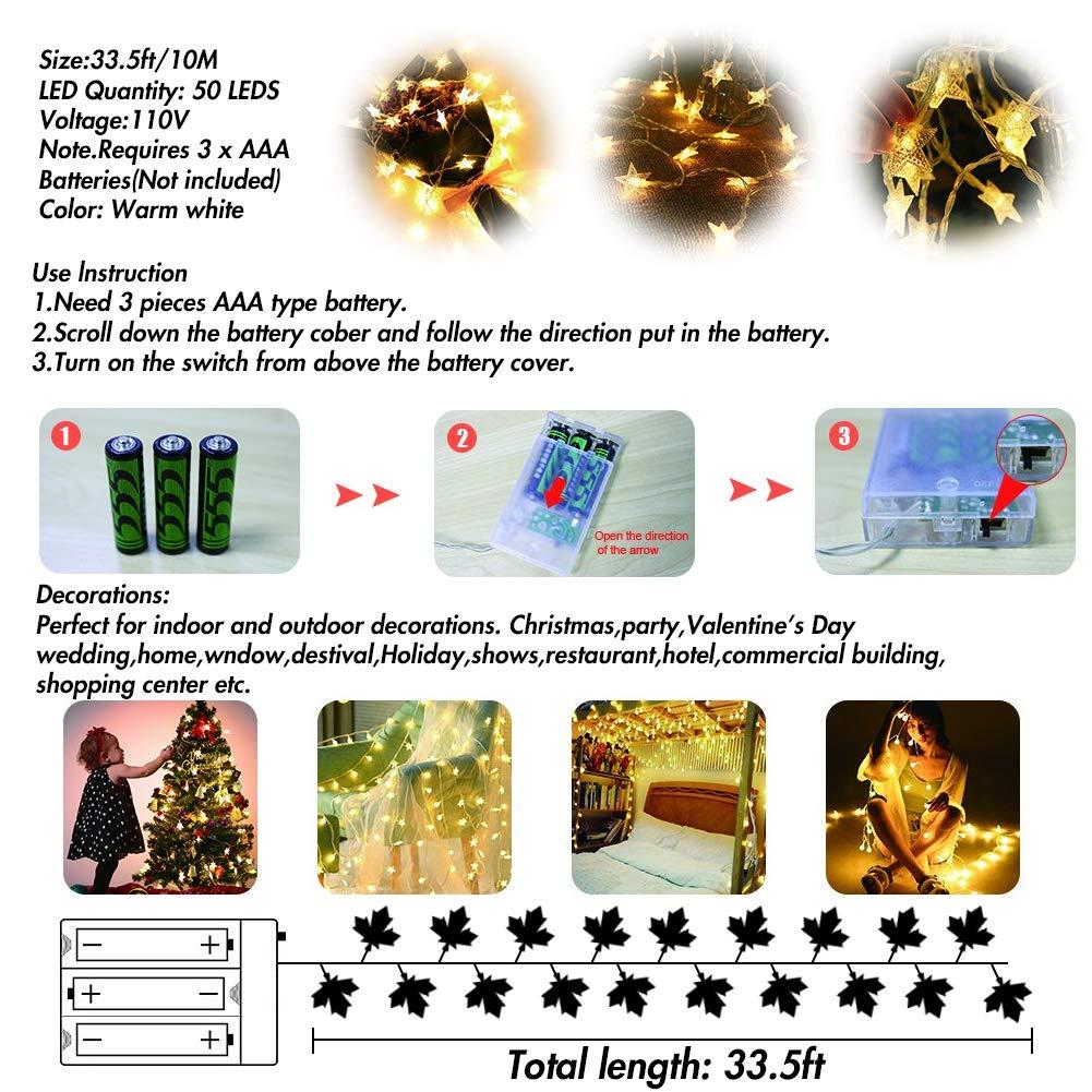 Amazon.com: Guirnalda de luces LED con 80 luces de color ...