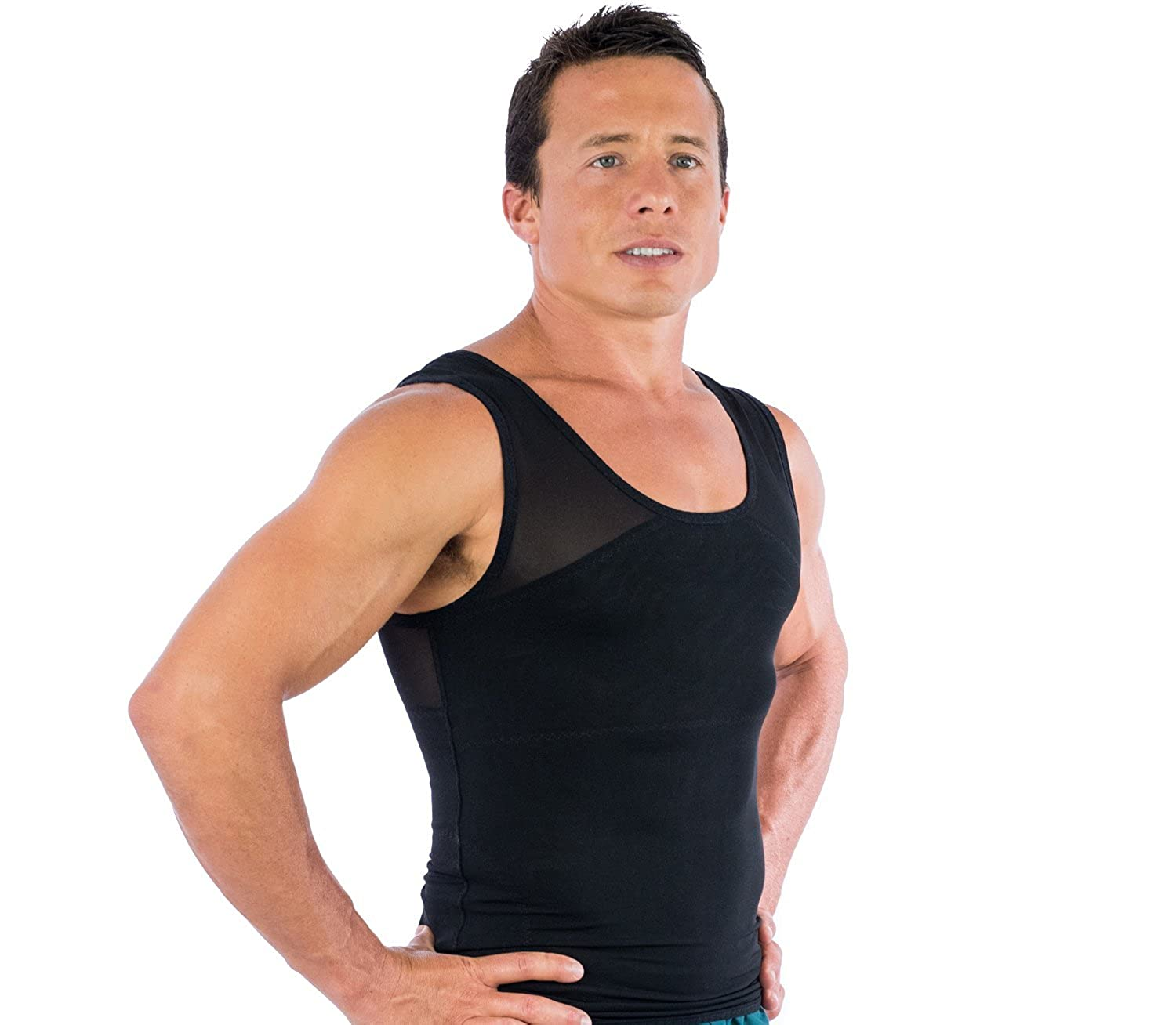 e499f3574275b Esteem Apparel Original Men s Chest Compression Shirt to Hide Gynecomastia  Moobs at Amazon Men s Clothing store