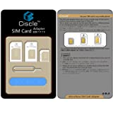 Ciscle 5 in 1 Nano SIM Card Adapter Converter Kit to Micro/Standard (White)