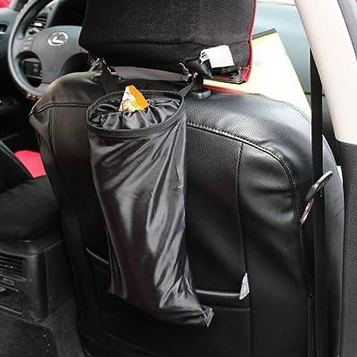 Encell Black Auto Seat Back Litter Bag Car Organizer: Automotive