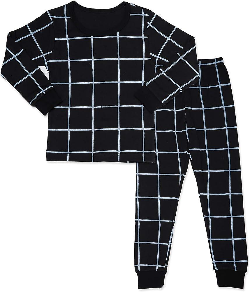 Mini-K Baby Toddler Kids Boys Girls Sleepwear Pajamas 100/% Cotton Long Sleeve 2pcs Pjs Set