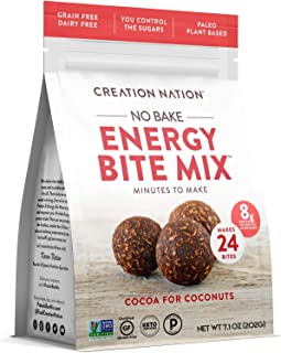 product image for No-bake Protein & Energy Bite Mix - Makes 24 Protein Balls, 7-9g protein/ serv, tastes like a chocolate coconut cookie! Keto, Paleo, Vegan, Gluten Free, No Sugar Added. Cocoa for Coconuts