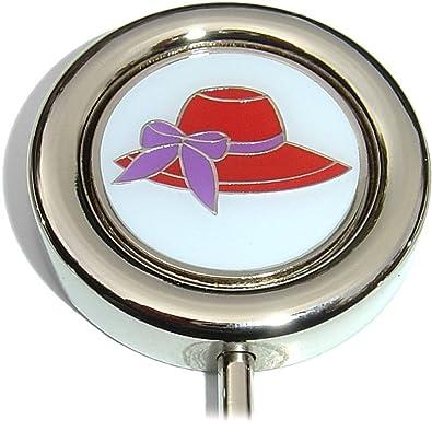 Amazon.com: Rojo sombrero de lazo morado bolso de mano: Shoes