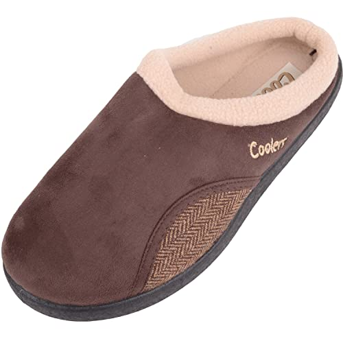 dcb94b691 ABSOLUTE FOOTWEAR Mens Slip on Mules/Slippers/Indoor Shoes with Warm Fleece  Lining -