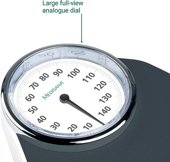 Bilancia pesapersone analogica 150kg design retrò vintage BILANCIA meccanicamente senza batteria