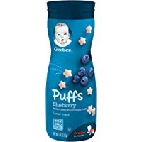 Gerber GRADUATES, Baby Food, Puffs, Blueberry, 42g