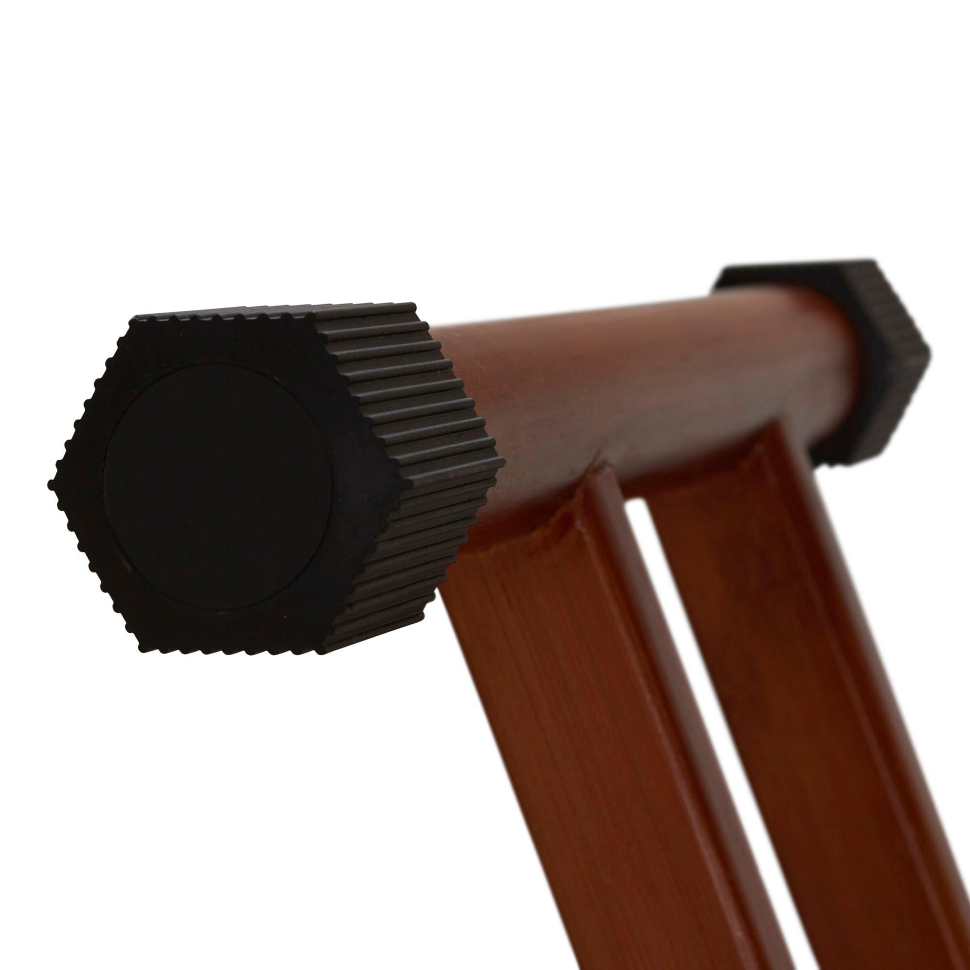 MattsGlobal Bamboo Leg Ironing Board with Iron Rest Cotton Wood Free Standing Iron Holder Dark Frame by MattsGlobal (Image #3)