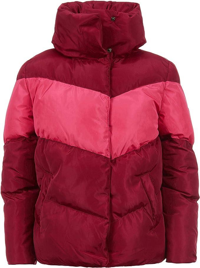 Calvin Klein Big Girls Colorblock Puffer Jacket, pop Raspberry, XL16
