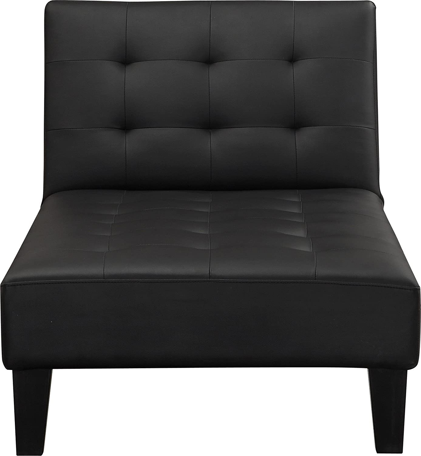 Amazon.com DHP Julia Chaise Lounger Converts to Sleeper Black Faux Leather Kitchen u0026 Dining  sc 1 st  Amazon.com : black chaise chair - Sectionals, Sofas & Couches