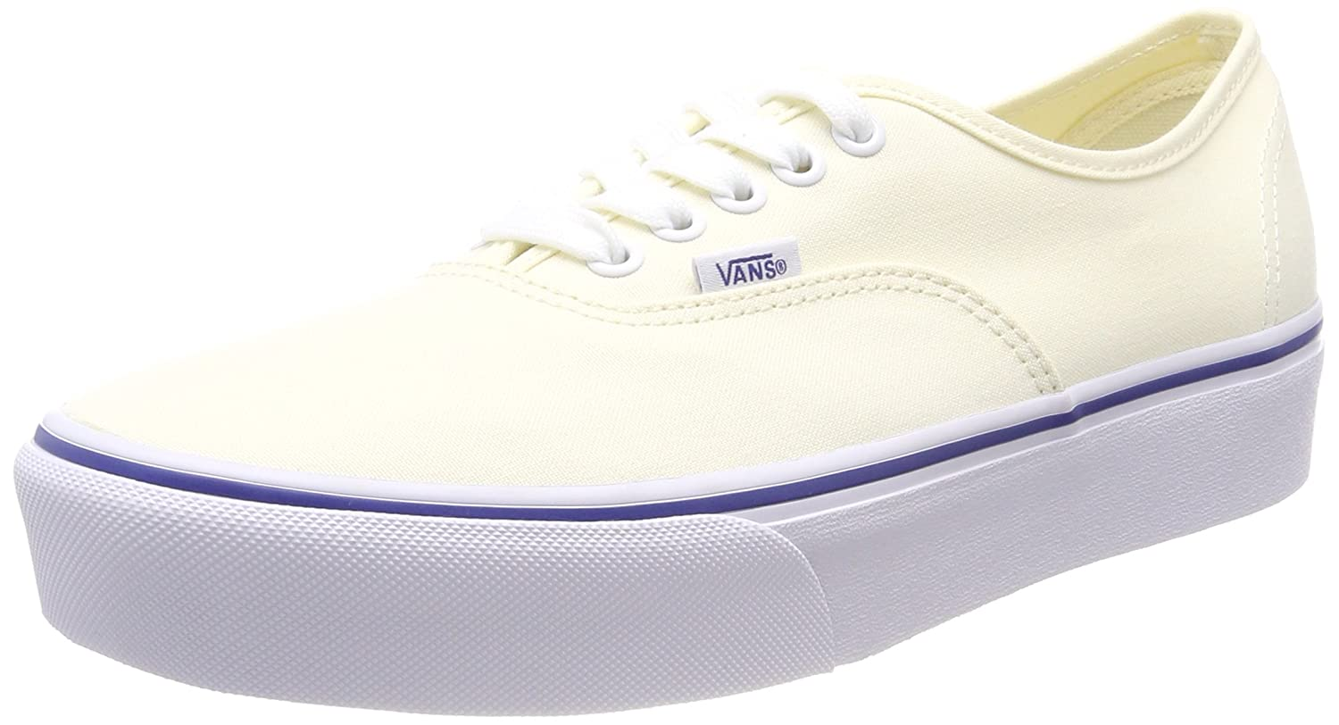 Vans Unisex Authentic Platform (Canvas) Casual Shoe B075FTDM33 9 M US Women / 7.5 M US Men|Classic White/True White