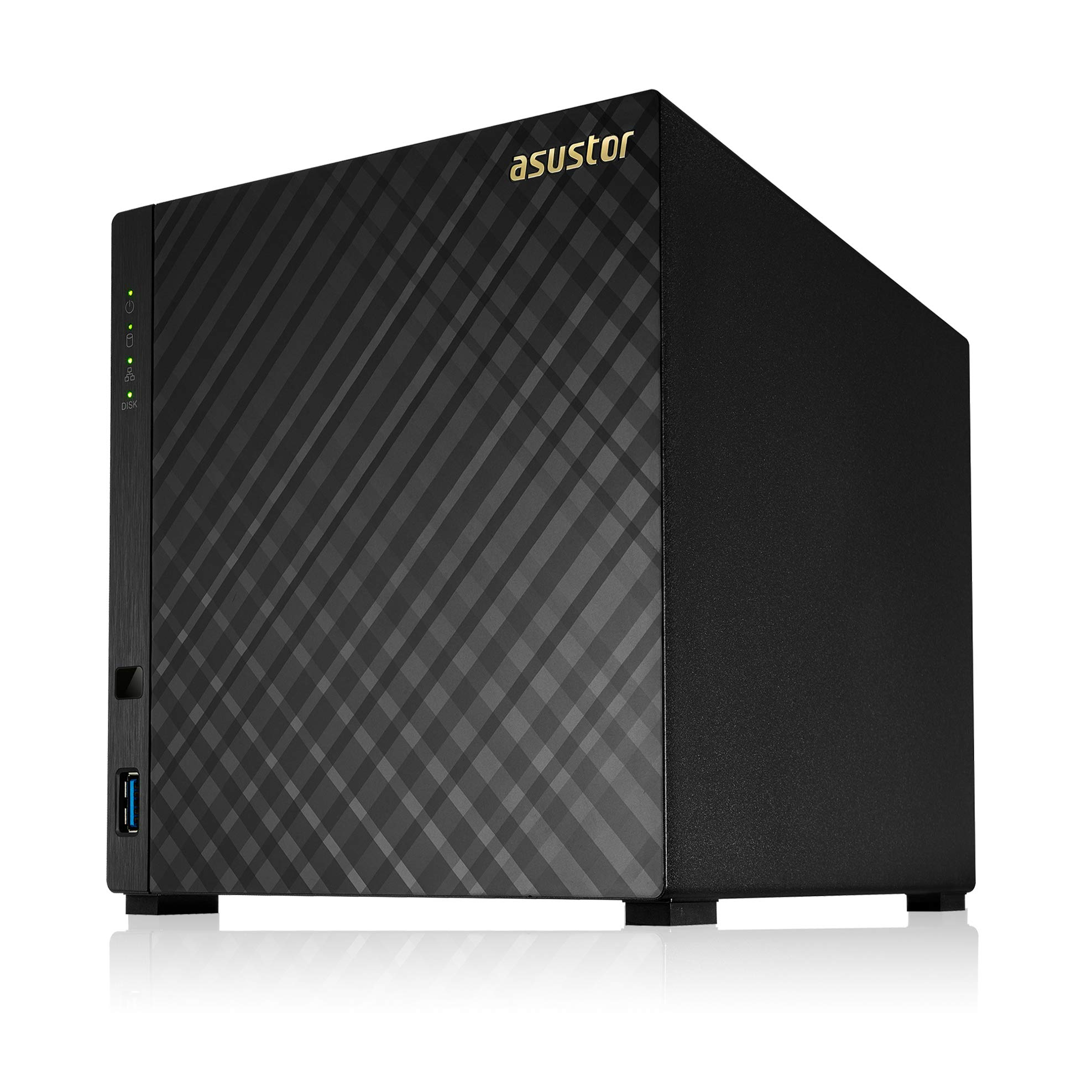Asustor AS1004T v2, Marvell Armada 1.6GHz Dual-Core, Personal Cloud NAS (4 Bay Diskless NAS)