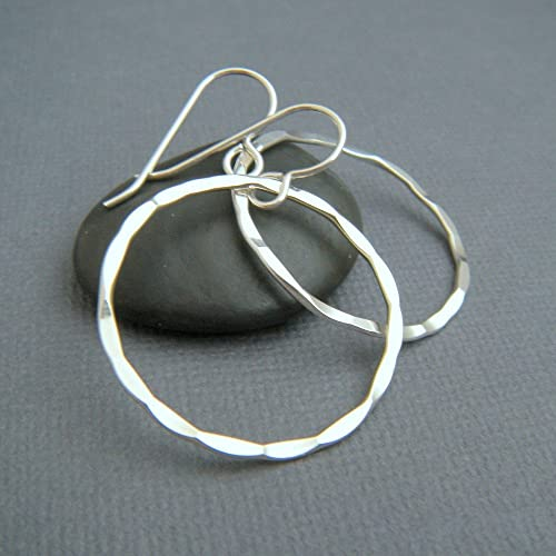 40e98cbce Image Unavailable. Image not available for. Color: sterling silver drop hoop  earrings. ...