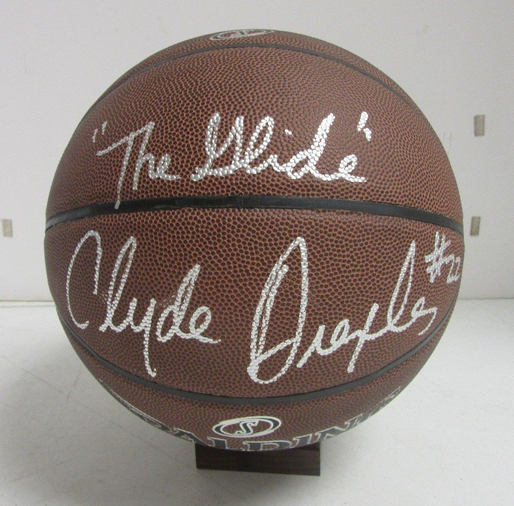 Clyde Drexler Signed Autographed Basketball The Glide Beckett Bas D23027