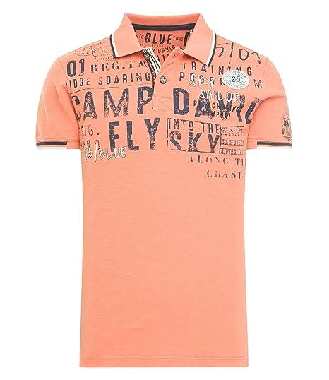 official images latest discount unique design Camp David Men's Polo Shirt Orange Orange - Orange - M ...