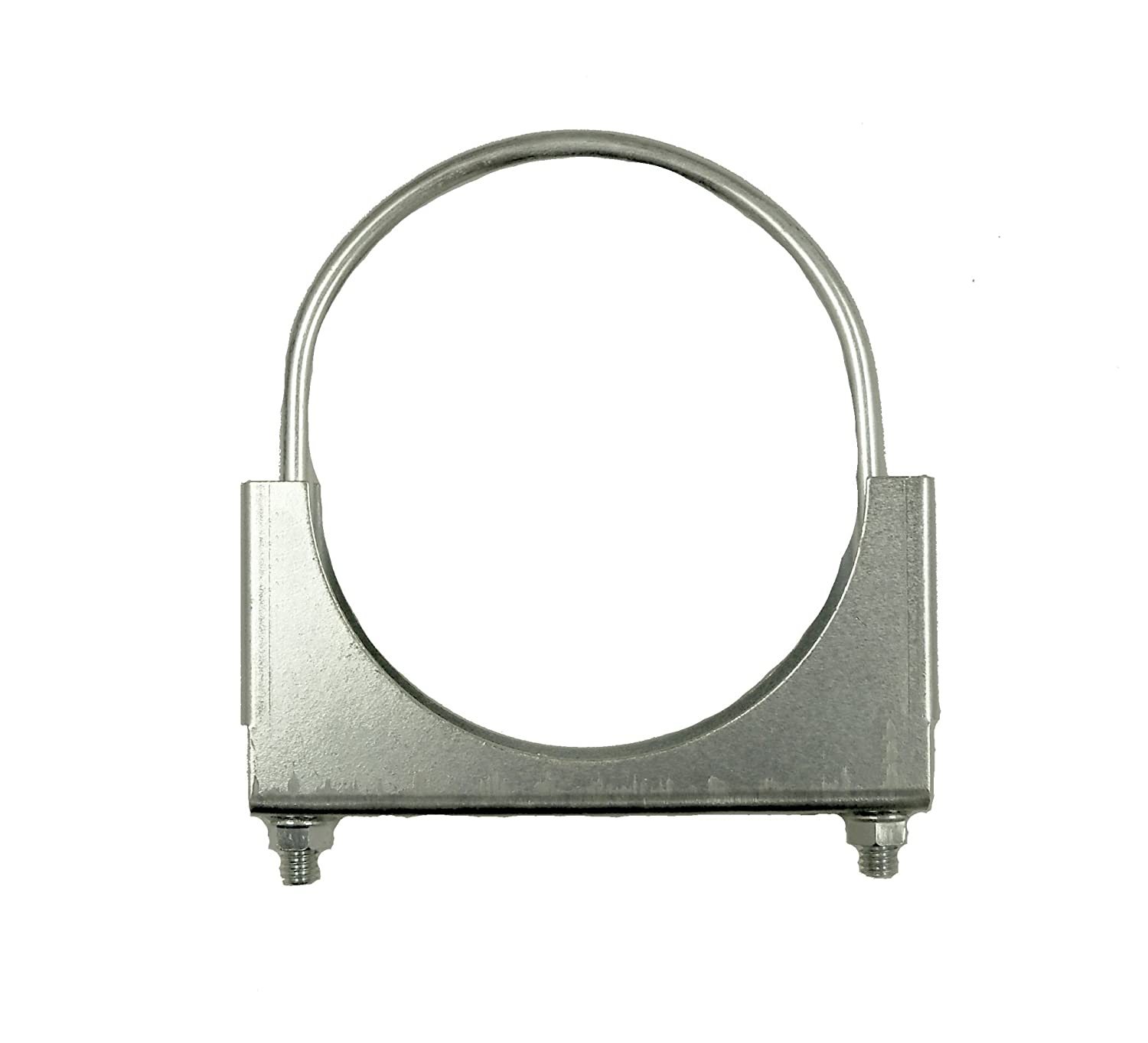 SmartParts 610400 4' Zinc Plated Round U Bolt Saddle Exhaust Clamp