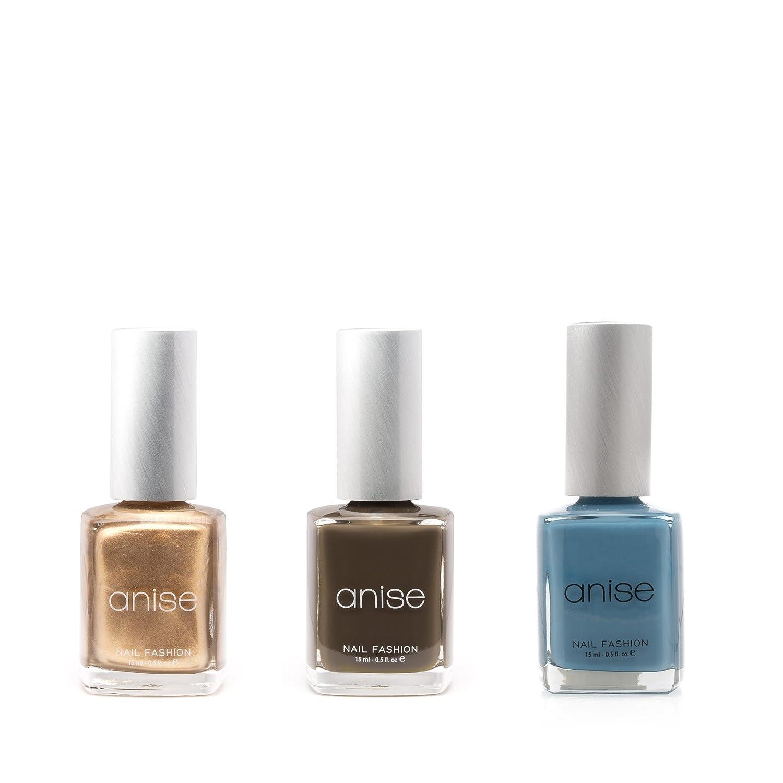 Amazon.com : Anise Nail Polish Bundle - Blue Collar Denim, Dark Grey ...