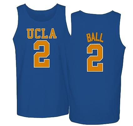 75b85c89b13 UCLA 2017 Bruins Lonzo Ball 2 College Basketball Men's Tank Top (Royal ...