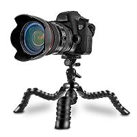 Coolway® 11.5 Pulgadas Pipi Grande Viaje Minitrípode para DSLR Cámara Juntas Flexible Estupendo Quick-Release Clip con Cerradura Anillo Nivel - Negro