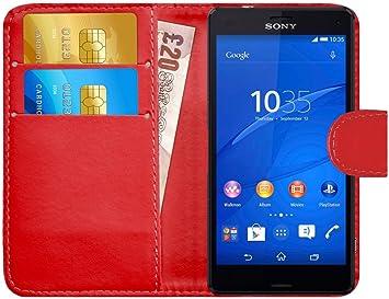 G-Shield Funda para Sony Xperia Z3 Compact, Carcasa de Cuero ...