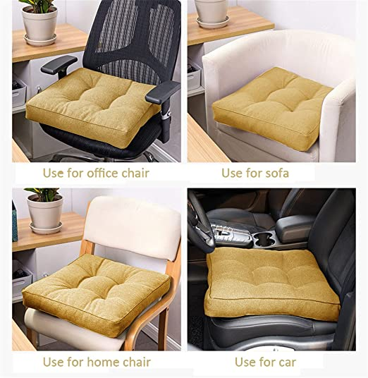 Uther Extra grueso cuadrado de algodón lino cojín silla de ...