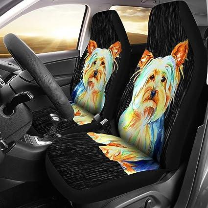 Pawlion Cute Yorkshire Terrier Yorkie Art Print Car Seat Covers