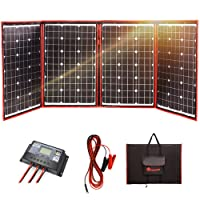DOKIO 200 Watts 12 Volts Monocrystalline Foldable Solar Panel Inverter Charge Controller