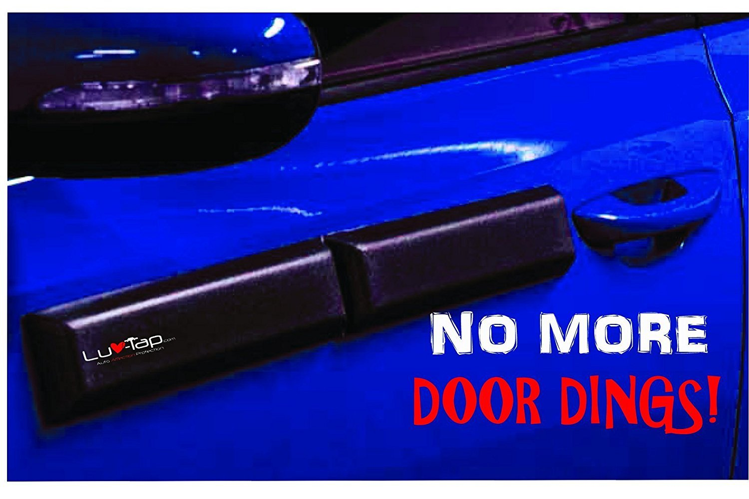 Ding Bats - Removable Magnetic Car Door Protector, Car Door Guard, Car Door Protection, Door Ding Dent Protector (With Security Cables) Luv-Tap