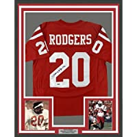 $394 » Framed Autographed/Signed Johnny Rodgers 33x42 Nebraska Red College Football Jersey Tristar COA Holo Only