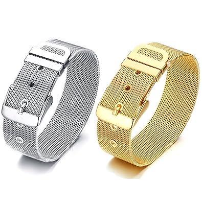 648438adc97e BOBIJOO Jewelry - Bracelet Ceinture Souple Femme Acier Inoxydable Argenté  ou Doré à l or