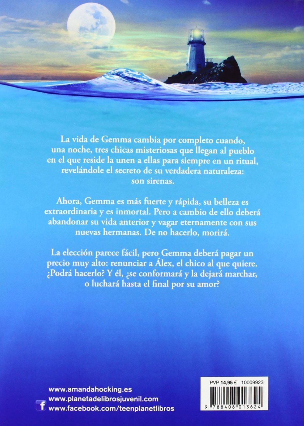 Sirenas: Canción de Mar 1 (La Isla del Tiempo Plus): Amazon.es: Amanda Hocking, Jorge Salvetti: Libros
