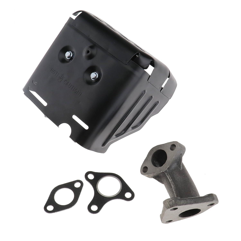 Create Idear - Silenciador de montaje con junta de repuesto para motor de coche