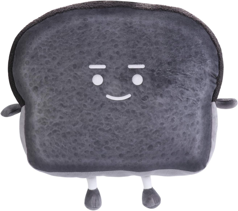 15.4X12.9X4.7inch Toast Sliced Bread Pillow,Cute Plush Soft Toast Bread Food Sofa Cushion,Stuffed Animal Home Bed Sofa Decor (15.4X12.9X4.7 inch)