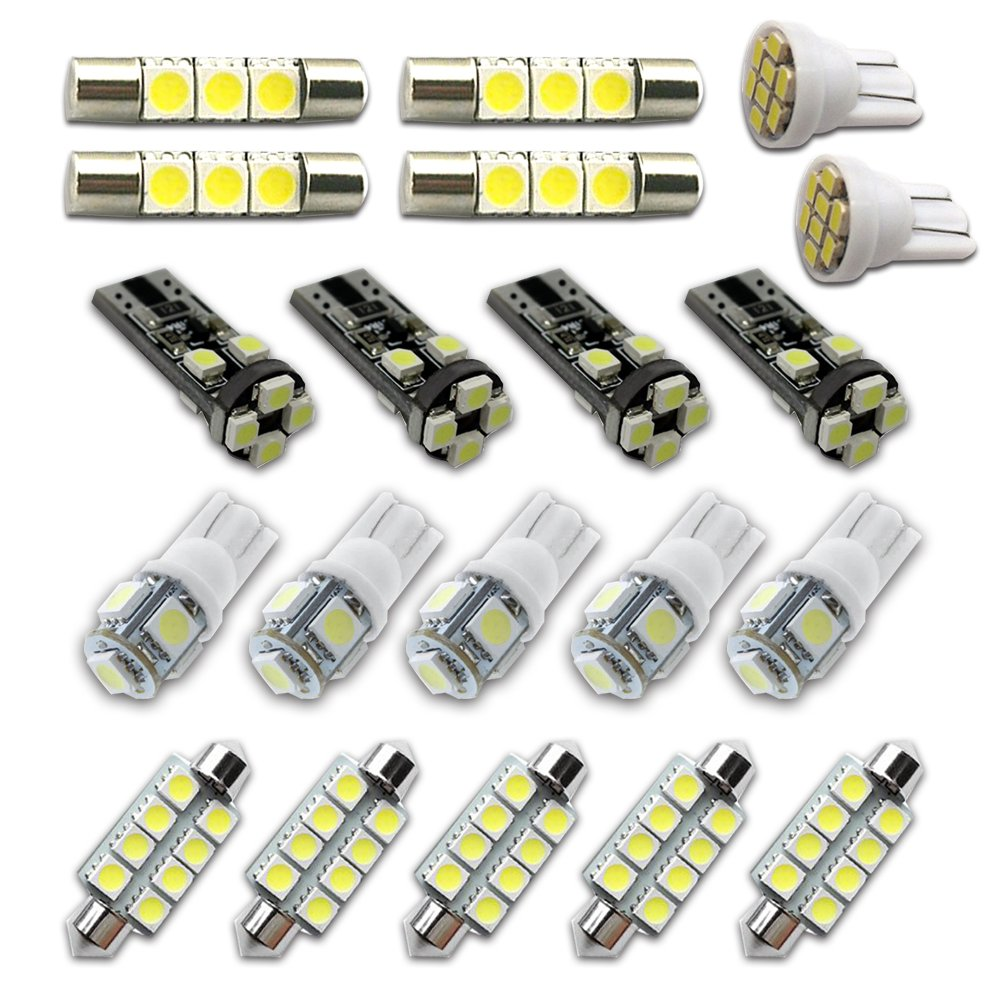For Chevy Avalanche Led Interior Lights Led Interior Car Lights Bulbs Kit 2002-2006 White 20Pcs 8X-SPEED