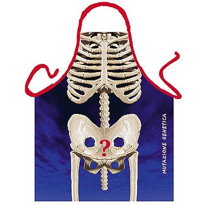 Delantal - delantal - esqueleto - diseño divertido delantal como regalo para barbacoas blsm con Humor: Amazon.es: Ropa y accesorios