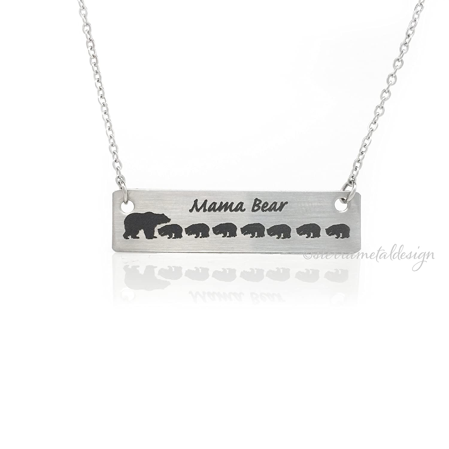 twist unique bear handstamped jewelry products necklace mama